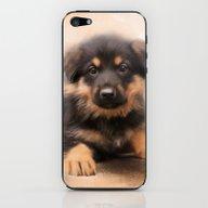 iPhone & iPod Skin featuring German Shepherd Puppy Po… by Jai Johnson