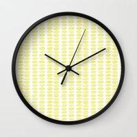 Yellow dots Wall Clock