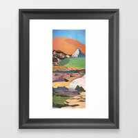Peaks And Plateaus Framed Art Print