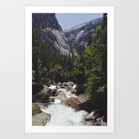yosemite vernal fall Art Print