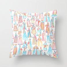 Renaissance Fashion Throw Pillow