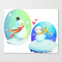 No love like snow love Canvas Print