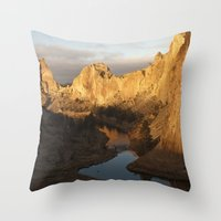 Smith Rock Sunrise I Throw Pillow