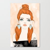 Red-haired girl Canvas Print