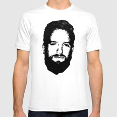 RossFace White SMALL Mens Fitted Tee