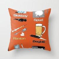 Trainspotting vector Throw Pillow