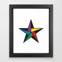 Geometric Star - To Wear Framed Art Print