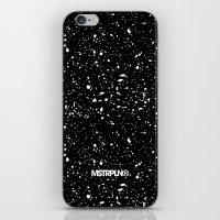 Retro Speckle Print - Bl… iPhone & iPod Skin