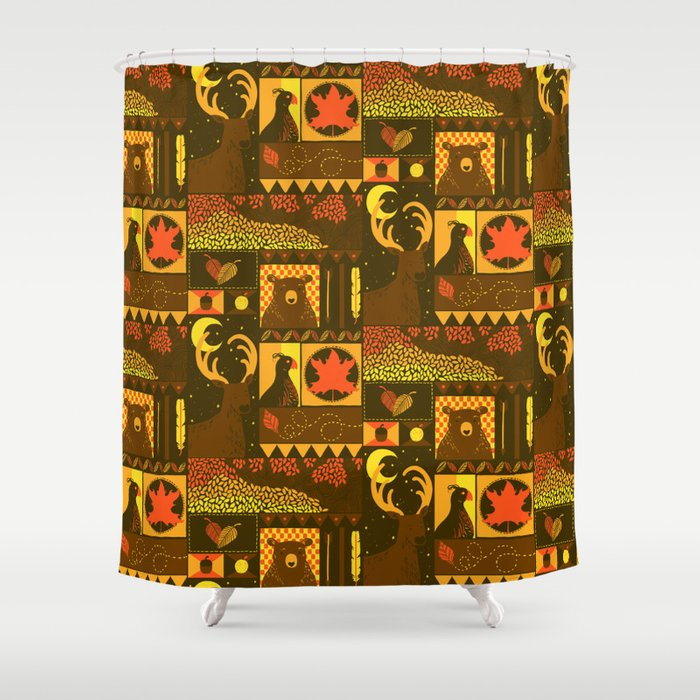 Fall Square Shower Curtain By Tobe Fonseca