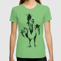 Angry Chicken Womens Fitted Tee Grass SMALL