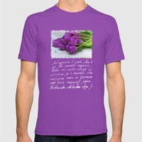Spring Botanical -- Purp… Mens Fitted Tee Ultraviolet SMALL