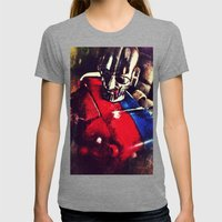 Biotron Womens Fitted Tee Tri-Grey SMALL