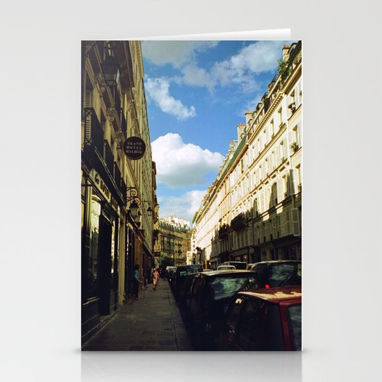 Paris in 35mm Film: Rue Malher in Le Marais Stationery Card