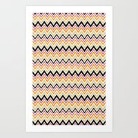 August Chevron Art Print