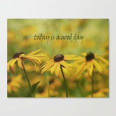 Good Day with Yellow Coneflower Canvas Print