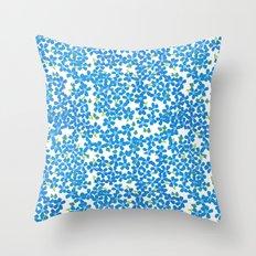 Little Bits of Blue Throw Pillow