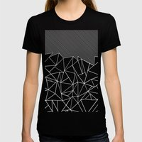 Ab Lines 45 Black Womens Fitted Tee Black SMALL