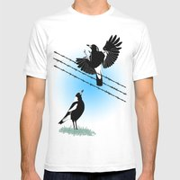 Magpies: learn to fly Mens Fitted Tee White SMALL