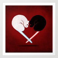 Lightside Vs Darkside Art Print