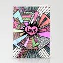 Power of LOVE...(retro pastel) Stationery Cards
