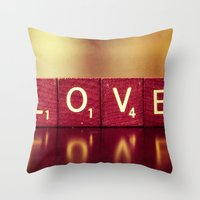 Love Is A Beautiful Word… Throw Pillow