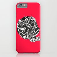 iPhone & iPod Case featuring Skull Moustache by Vasco Vicente