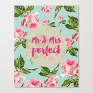 Canvas Print featuring Mr And Mrs Perfect Flora… by Allyson Johnson