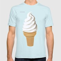 Ice Cream (Bright) Mens Fitted Tee Light Blue SMALL