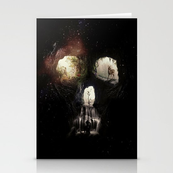 Cave Skull Stationery Card