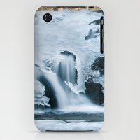 iPhone 3Gs & iPhone 3G Cases featuring Water flowing through ice by Patrik Lovrin Photography