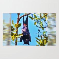 A flying fox (fruit bat) just hanging around Rug