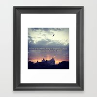 Quote of the Day 2 Framed Art Print