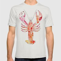 Lobster Mens Fitted Tee Silver SMALL