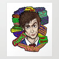 The 10th Doctor Art Print