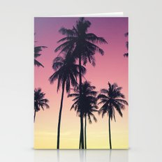 Palmtrees Sunset Stationery Cards