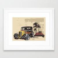 Framed Art Print featuring Hot Rod Paradise by dTydlacka
