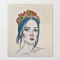 Berry Girl Canvas Print