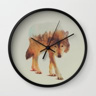 Wolf In The Woods #2 Wall Clock