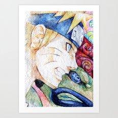 Nauto Watercolor Art Print