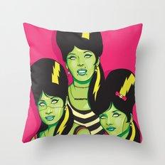 Frankettes Throw Pillow