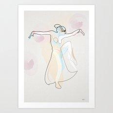 One Line Metropolis : Maria's dance Art Print