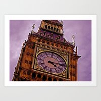 Big Ben In Purple Art Print