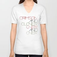 Crimson and Clover Over and Over Unisex V-Neck