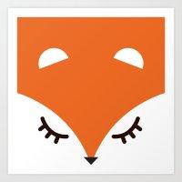 Fox minimal Art Print