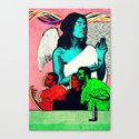 Man and Woman Reenact the Last Supper in an Age of Digital Ecstasy Panel #4 Canvas Print
