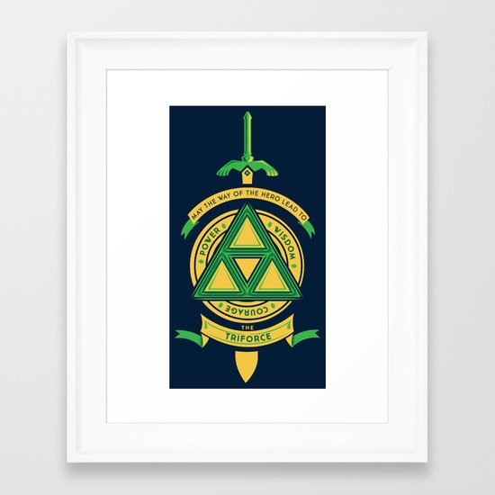 May the way of the hero lead to: Framed Art Print