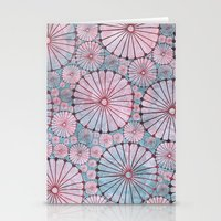 Abstract Floral Circles 3 Stationery Cards