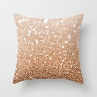 Copper Shiny Powder Texu… Throw Pillow