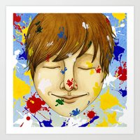 The colorful world Art Print