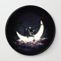 Moon Sailing Wall Clock